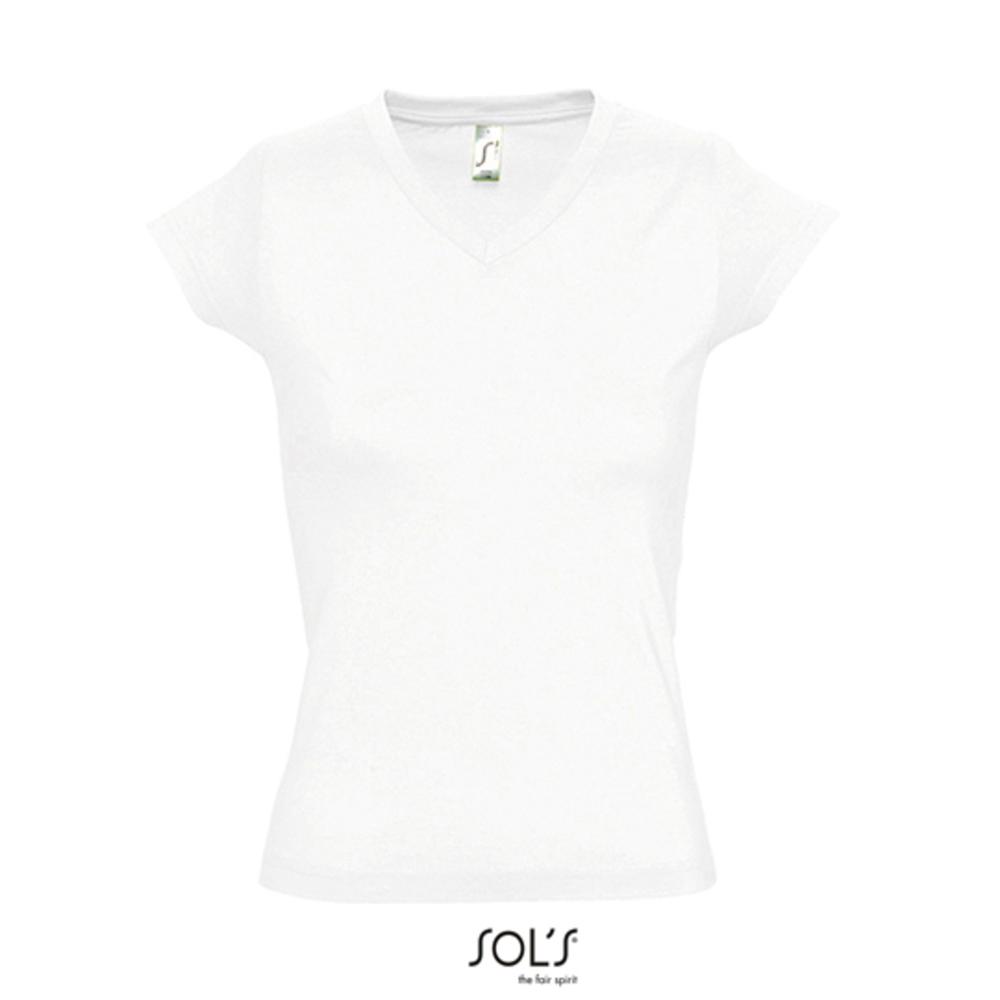 Camiseta con cuello en V para mujer Moon