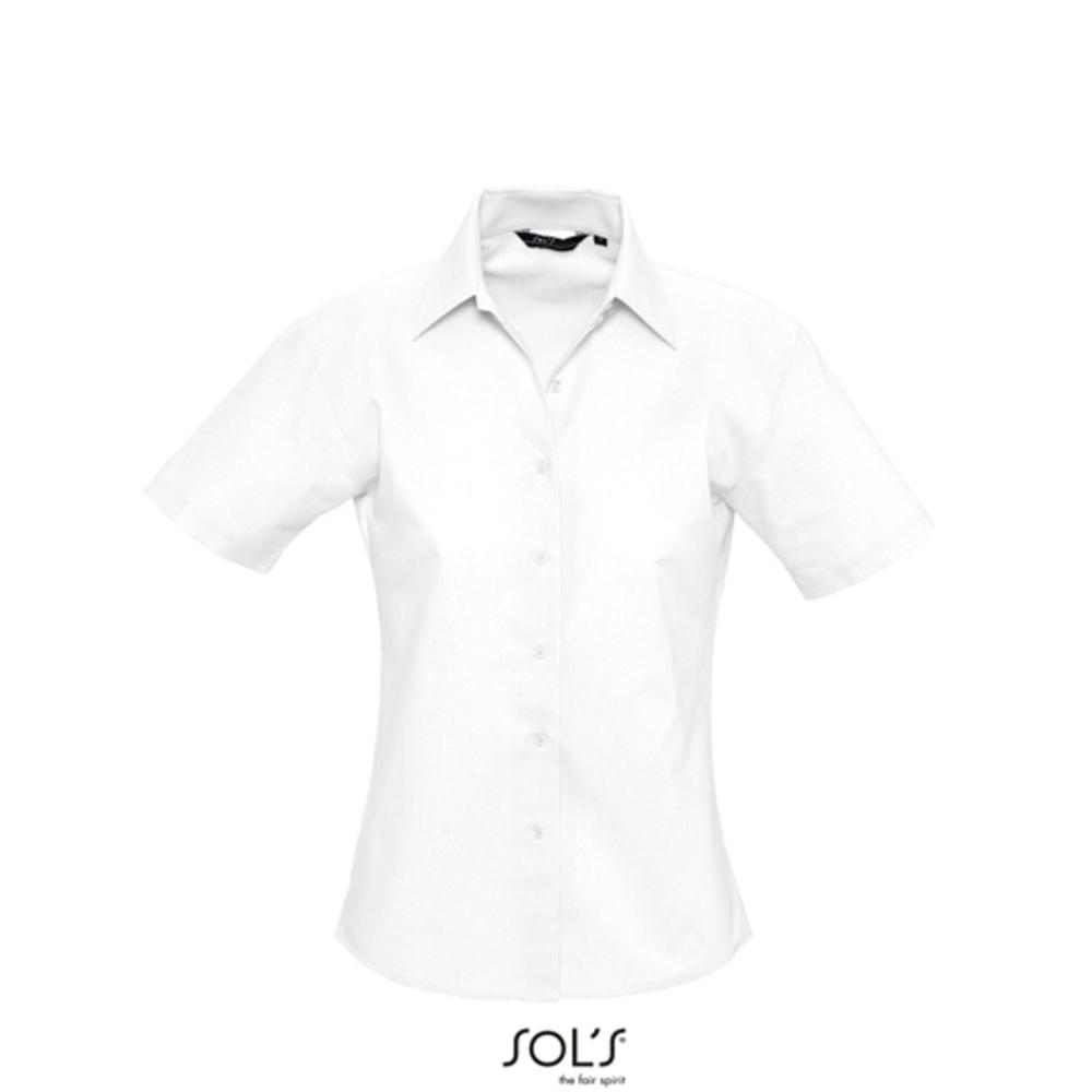 Ladies` Oxford Blouse Elite Short Sleeve