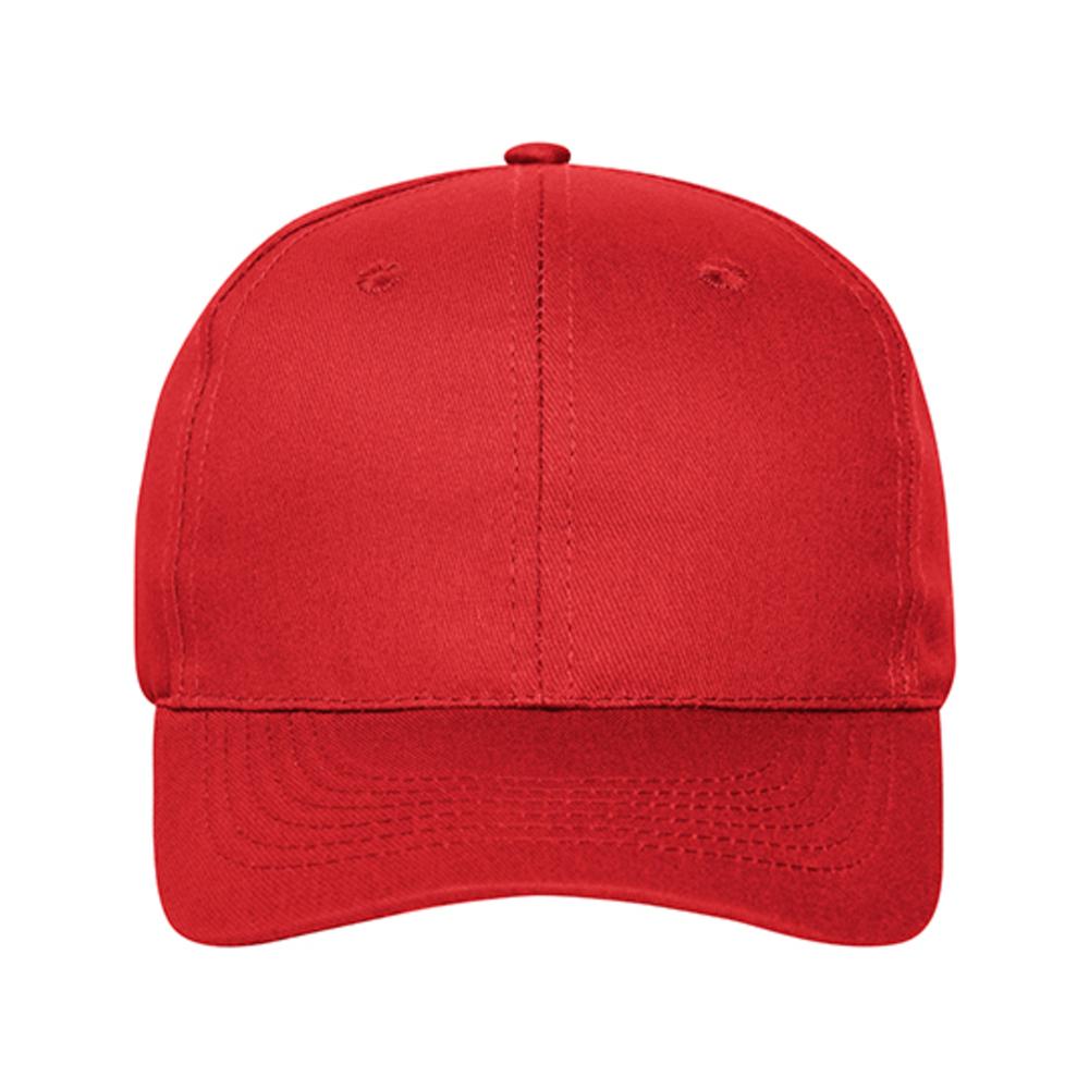 Gorra de 6 paneles de algodón orgánico