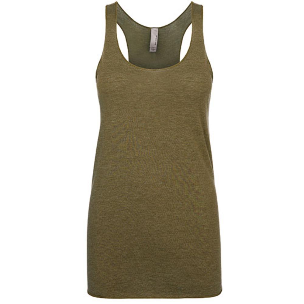 Camiseta sin mangas con espalda cruzada de tres mezclas para mujer