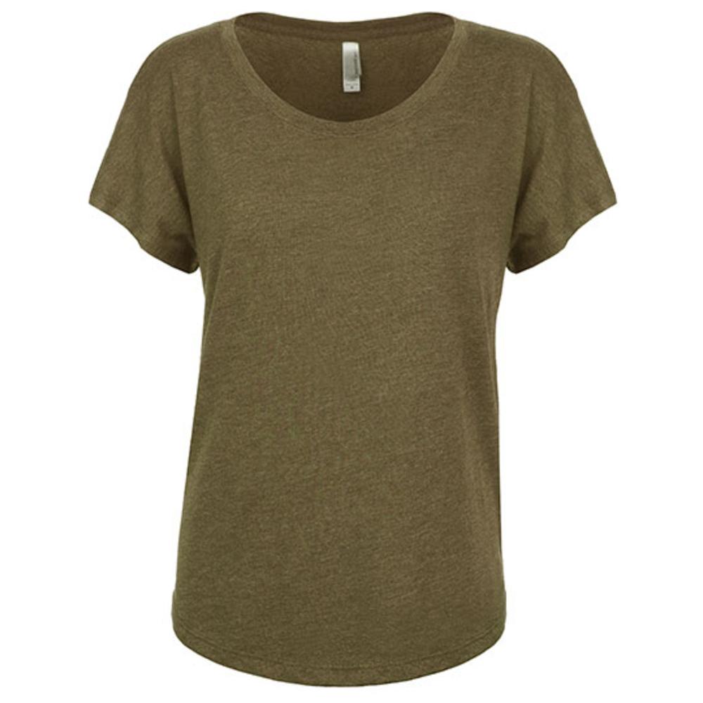 Camiseta Dolman Tri-Blend para mujer