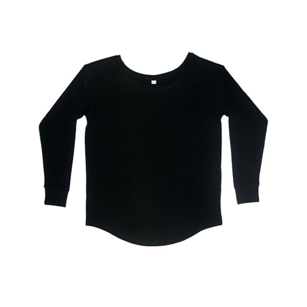 Camiseta holgada de manga larga para mujer