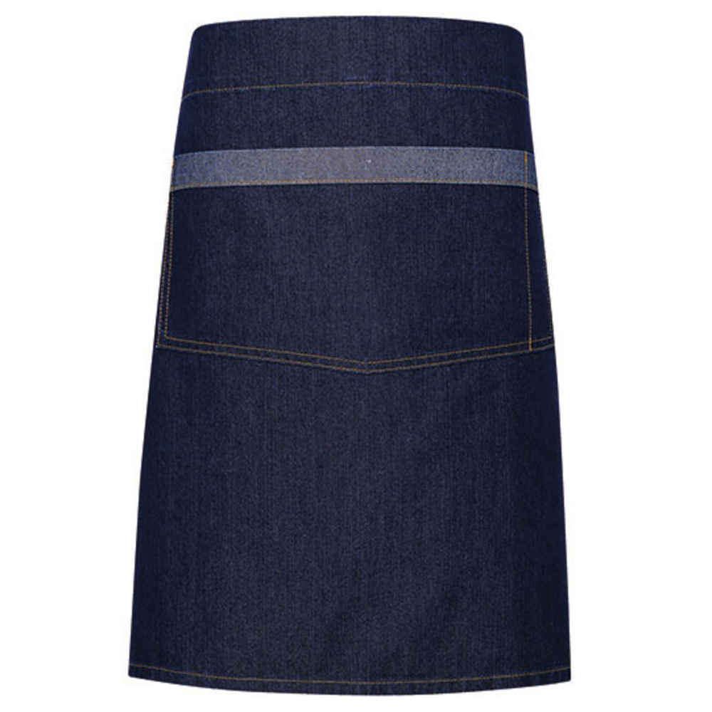 Domain Contrast Denim Waist Apron