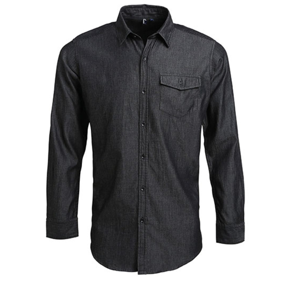 Men`s Jeans Stitch Denim Shirt