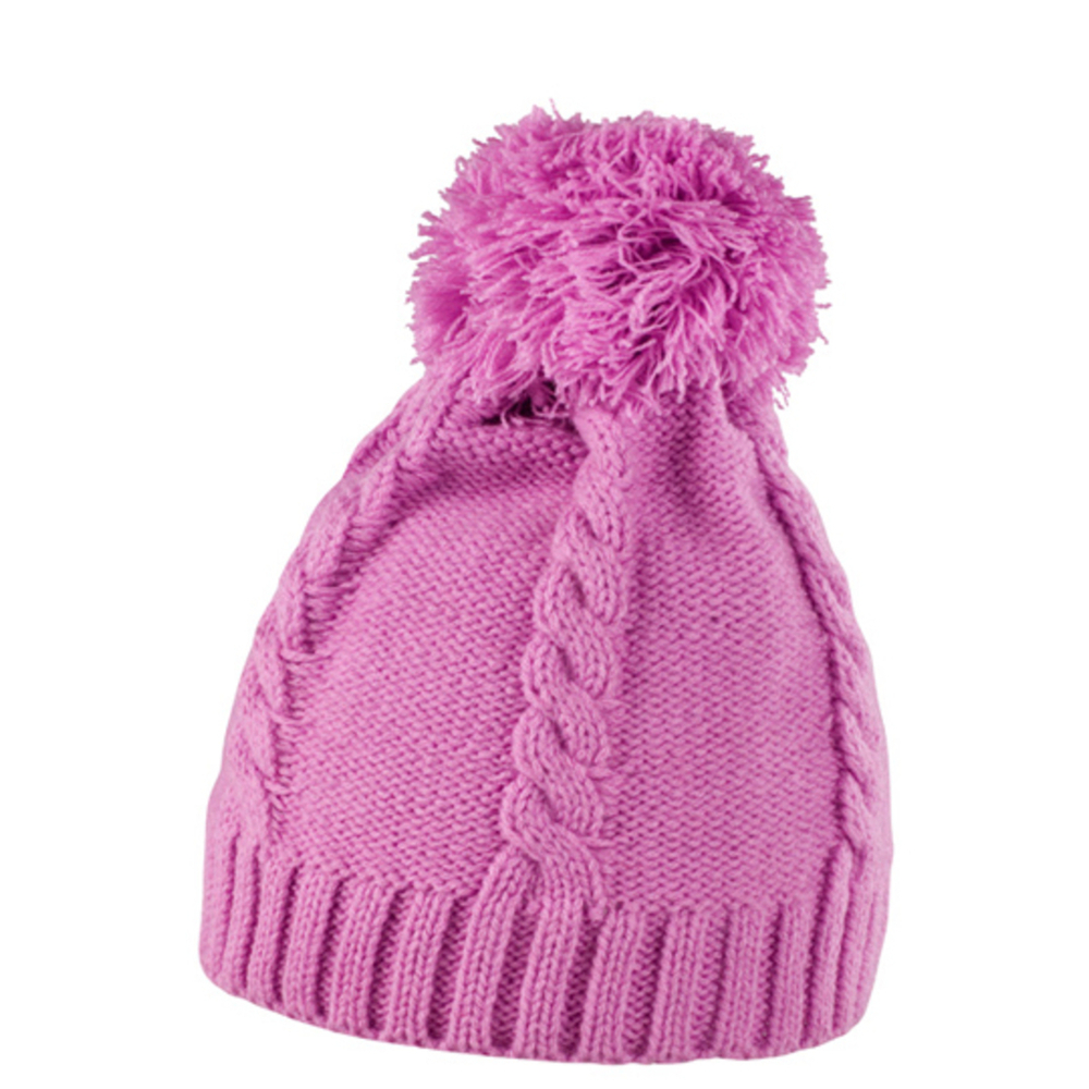Cable Knit Pom-Pom Beanie