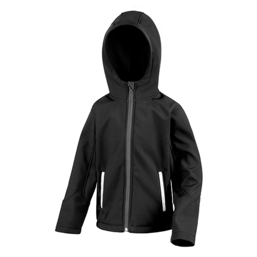 Youth Hooded Soft Shell Jacket