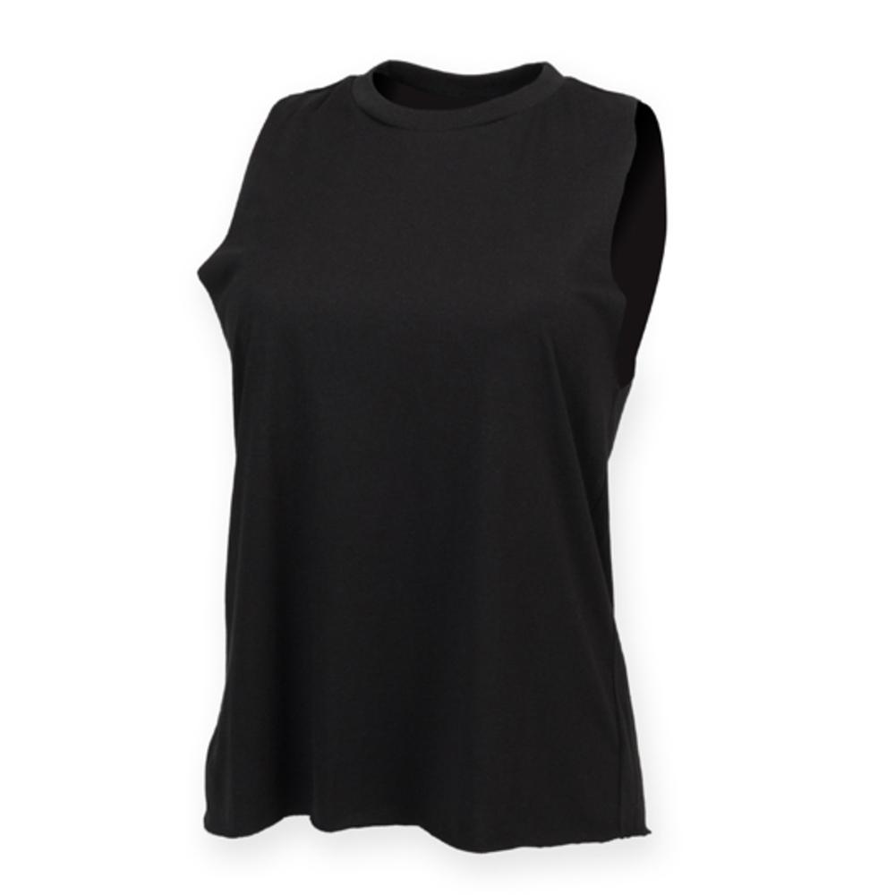 Women`s High Neck Slash Armhole Vest