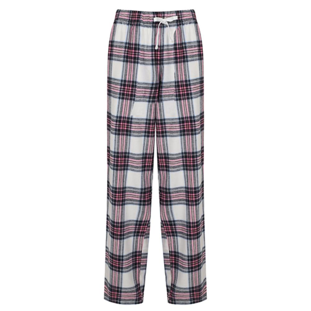 Pantalones de salón de tartán para mujer