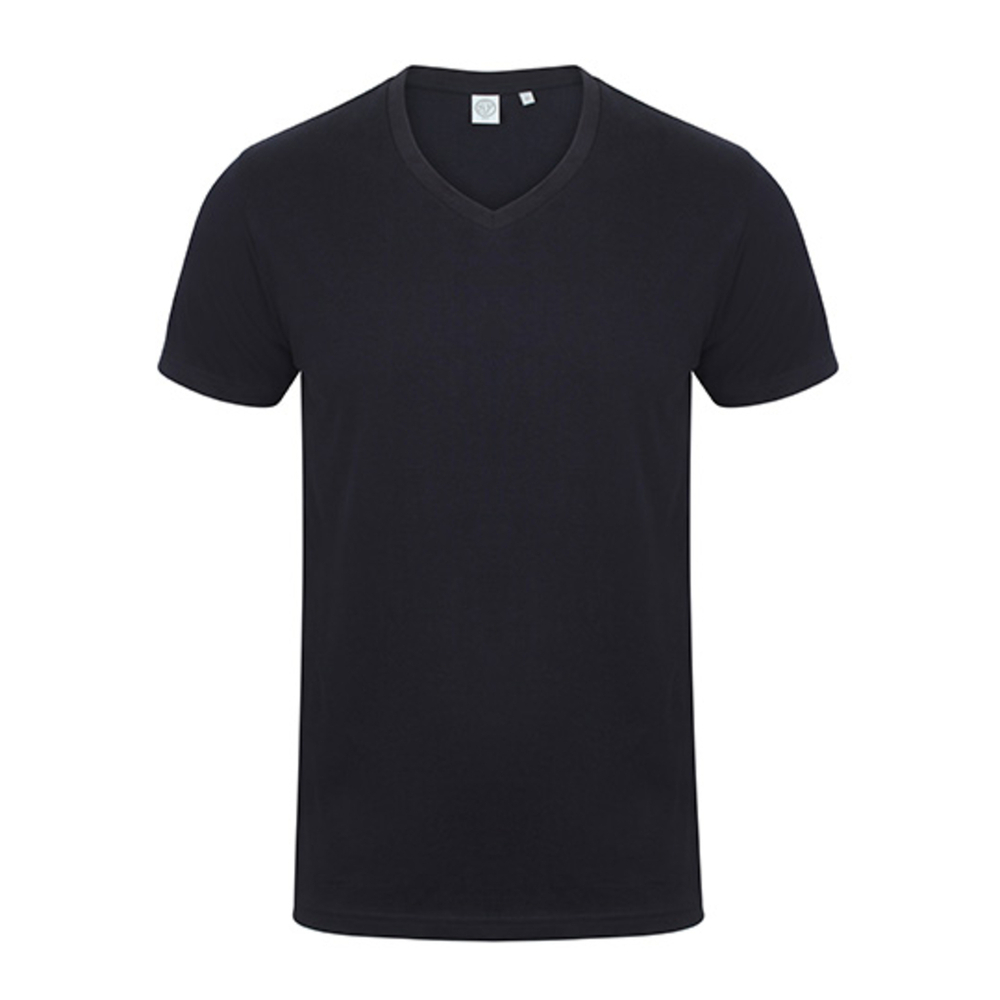 T-shirt da uomo con scollo a V elasticizzato Feel Good