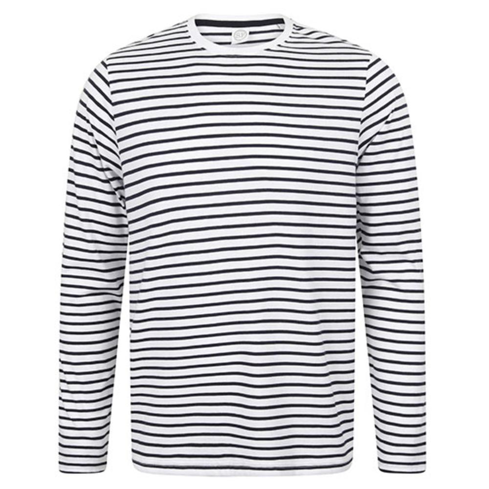 Camiseta unisex de manga larga a rayas