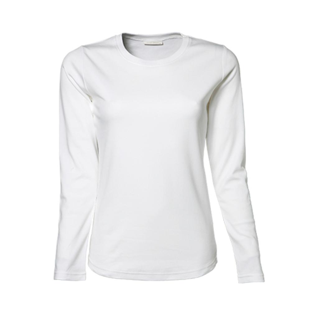 Camiseta de interbloqueo de manga larga para mujer