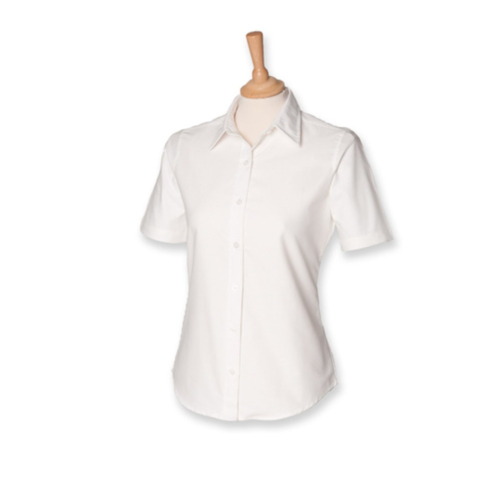 Ladies` Classic Short Sleeved Oxford Shirt