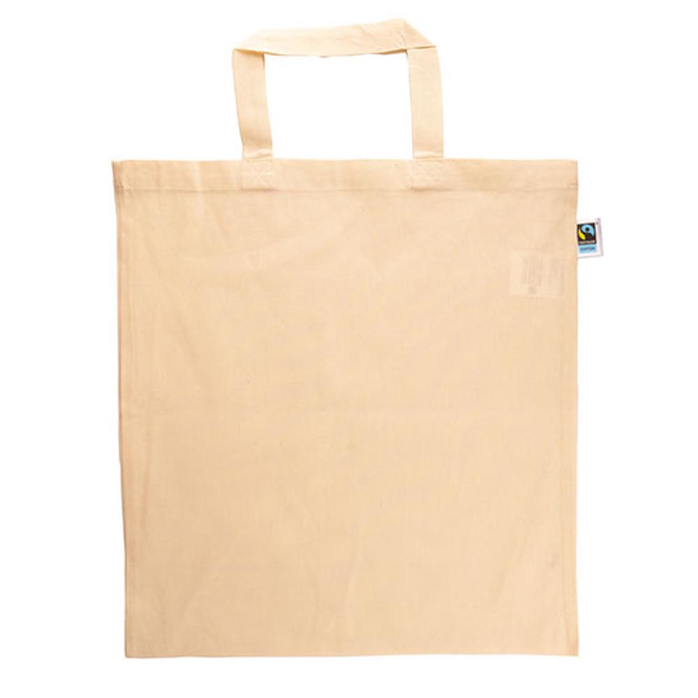 Baumwolltasche, Fairtrade-Baumwolle, kurze Henkel