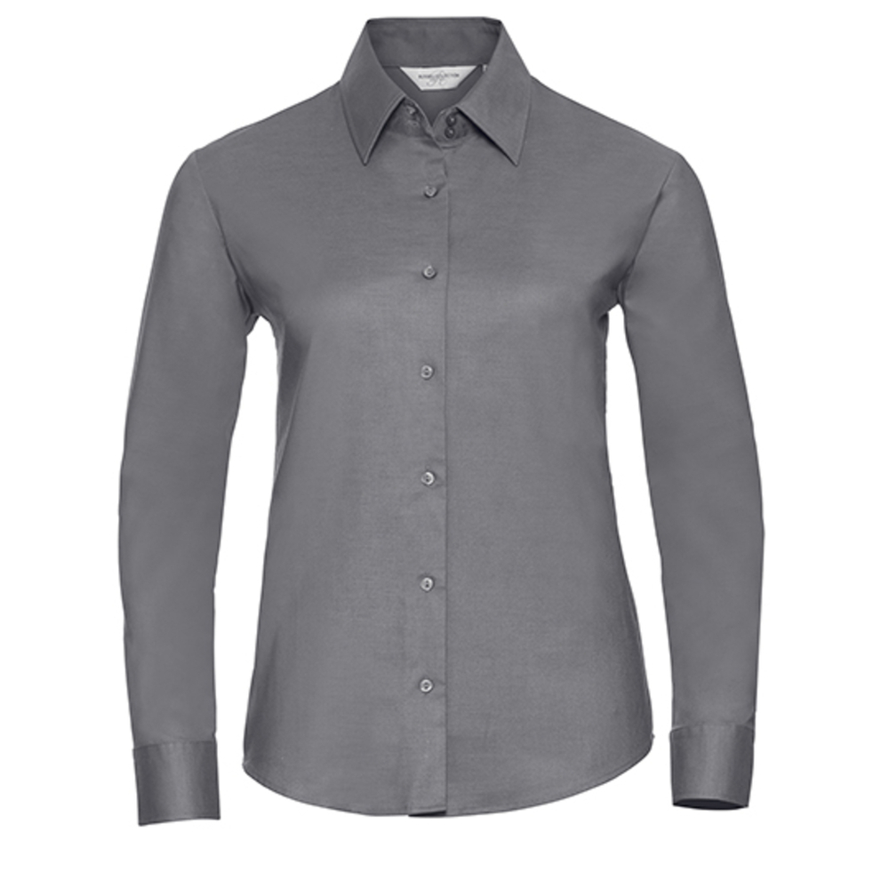 Camisa Oxford clásica de manga larga para mujer