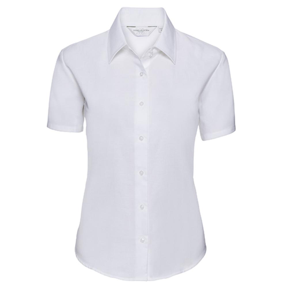 Camicia Oxford classica a maniche corte da donna