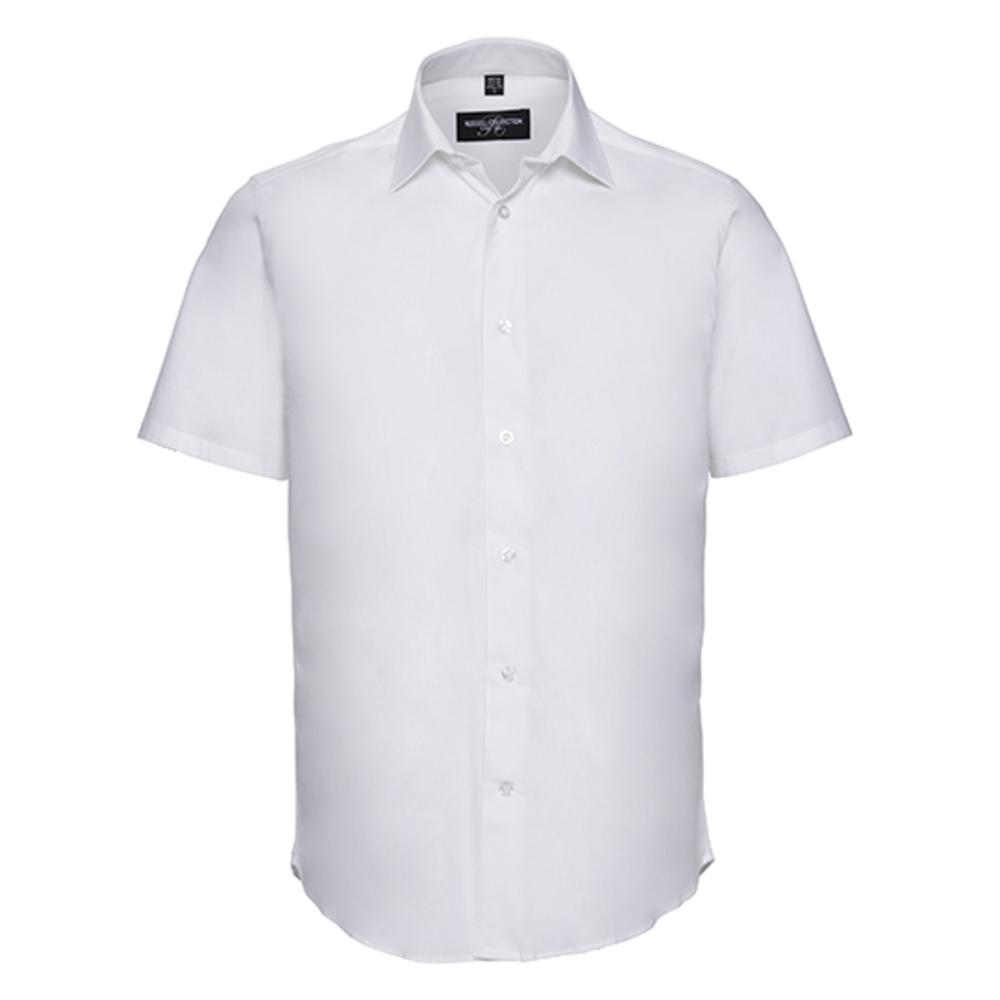 Camicia elasticizzata aderente a maniche corte da uomo