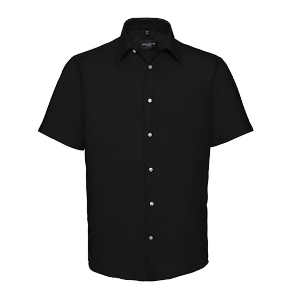 Camicia da uomo non stirata a maniche corte su misura