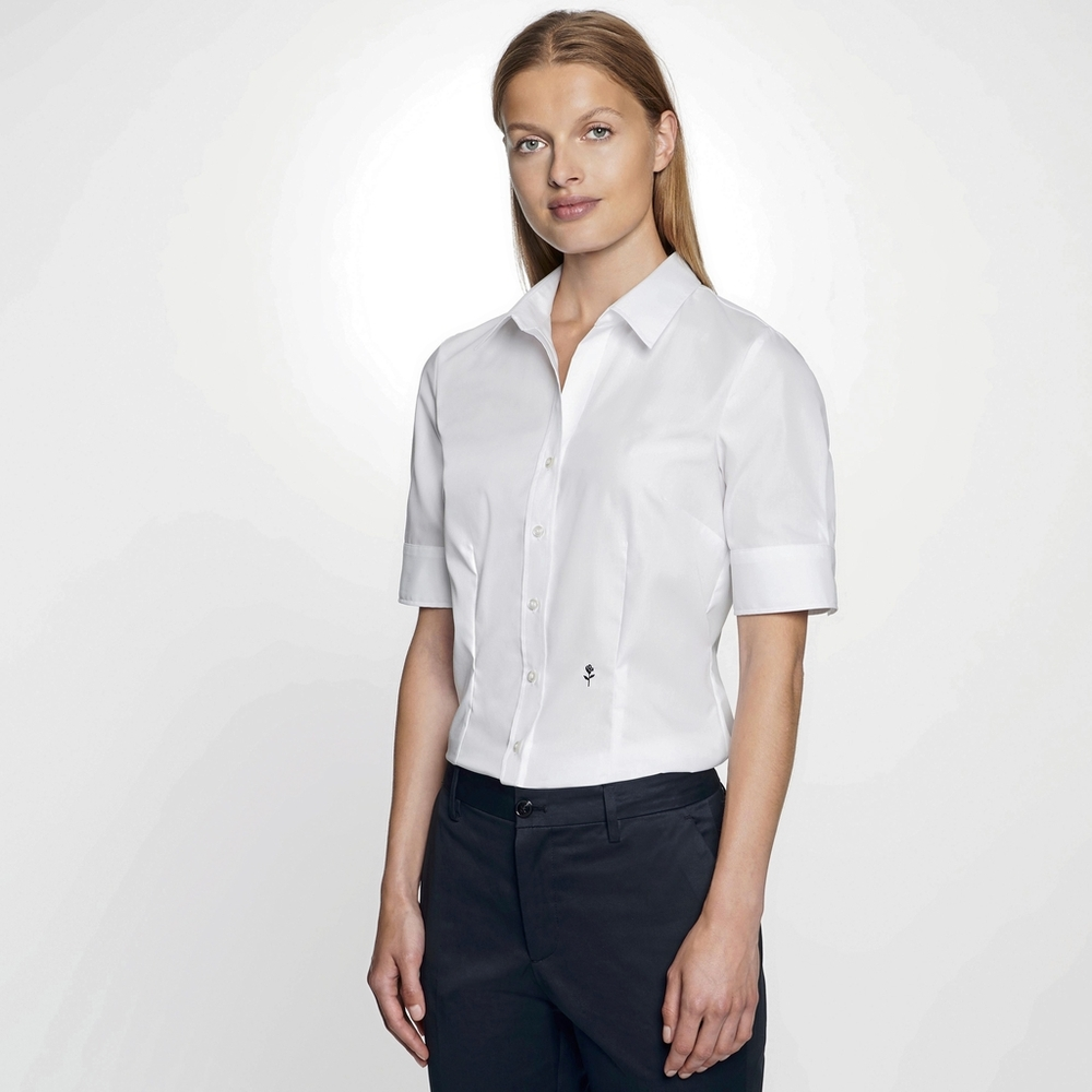 Women`s Blouse Slim Fit Shortsleeve
