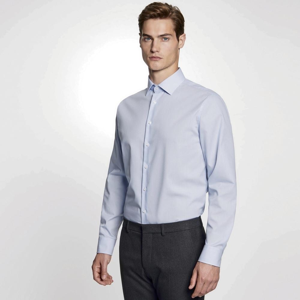 Men`s Shirt Shaped Fit Check/Stripes Longsleeve