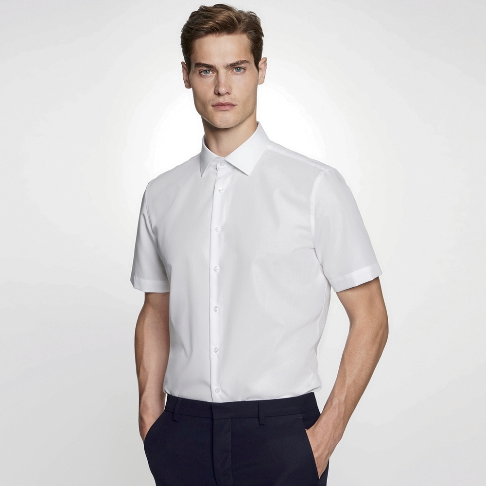 Men`s Shirt Slim Fit Shortsleeve