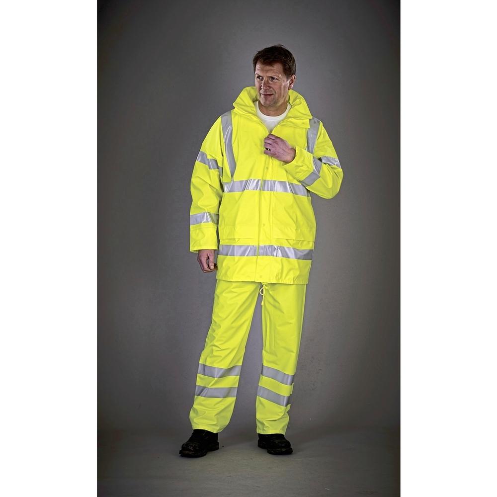 Pantalones de lluvia transpirables Soft Flex de alta visibilidad