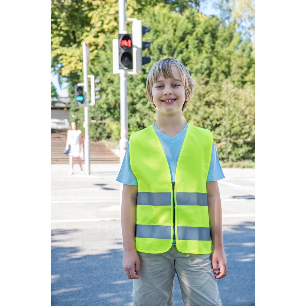 Chaleco de seguridad para niños con cremallera EN1150