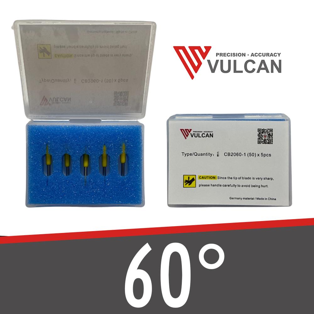 5 Schleppmesser 60° für Vulcan
