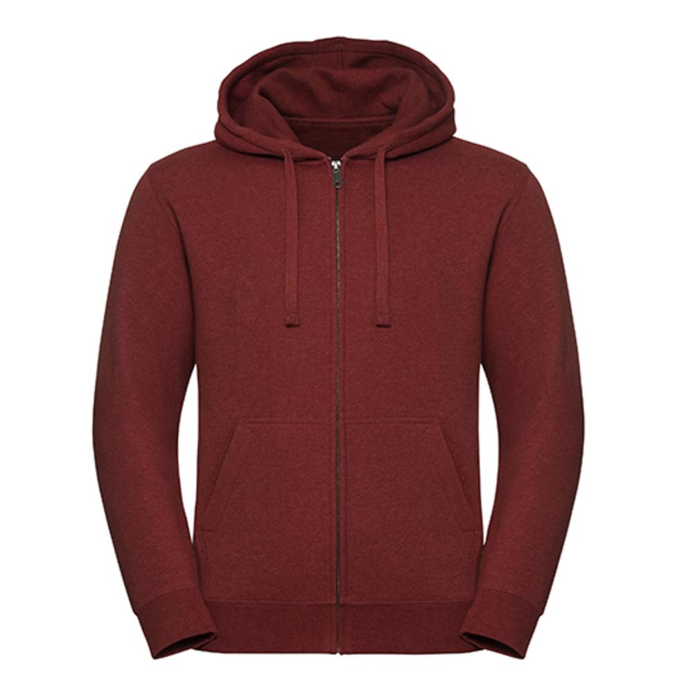 Men`s Authentic Melange Zipped Hood Sweat