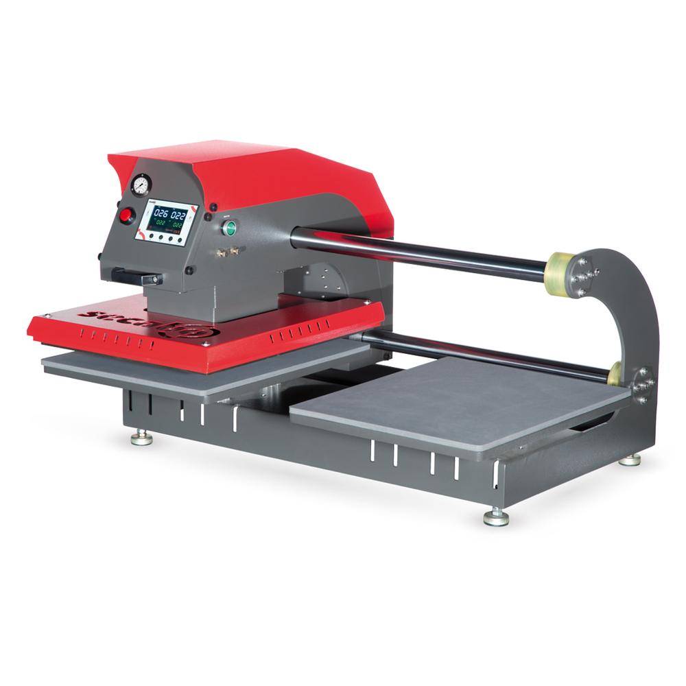 Secabo TPD7 prensa térmica neumática con doble plato base
