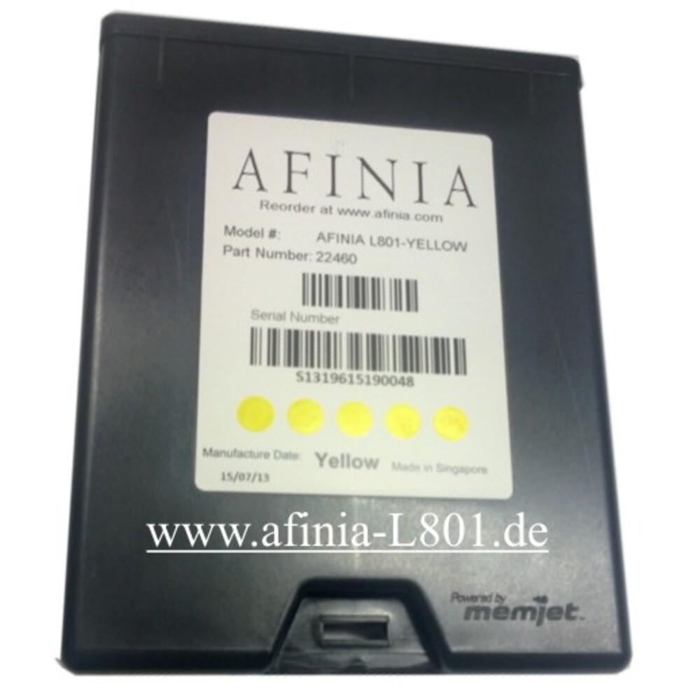 Cartouche d'encre jaune pour imprimante d'étiquettes Afinia L-801