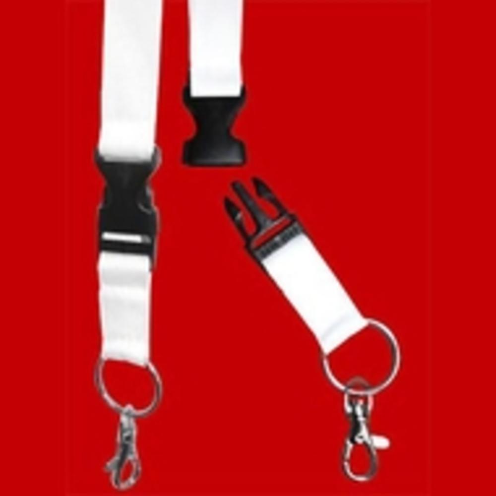 Porte-clés, blanc, 25mm,50 pièces