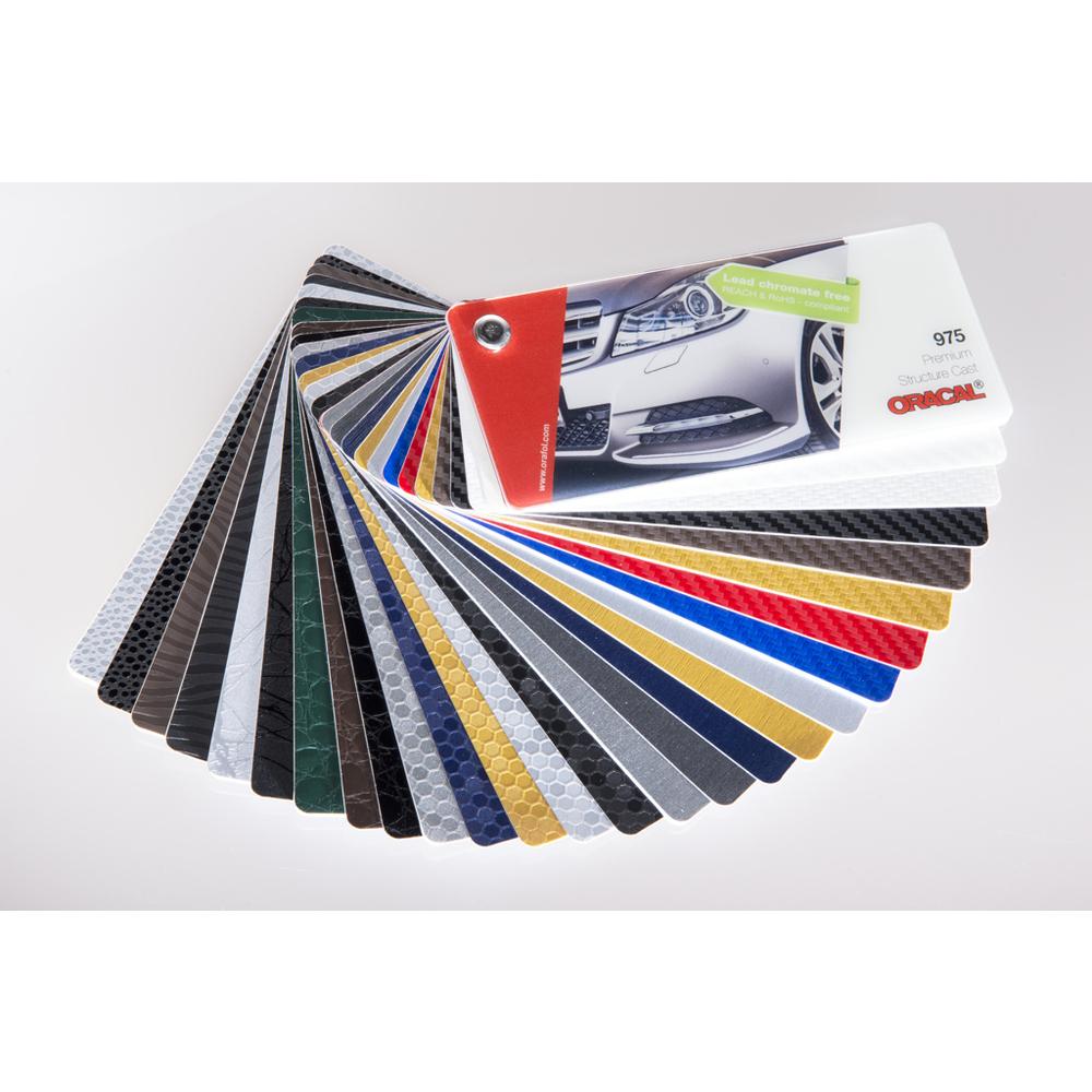 Éventail nuancier de couleurs ORACAL 975 Premium Structure Cast