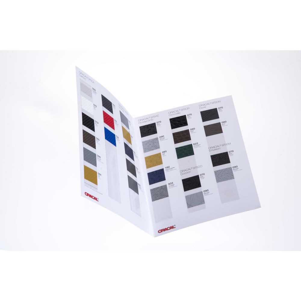 Oracal 975 Tableau des couleurs du design de la structure de l'Oracal 975