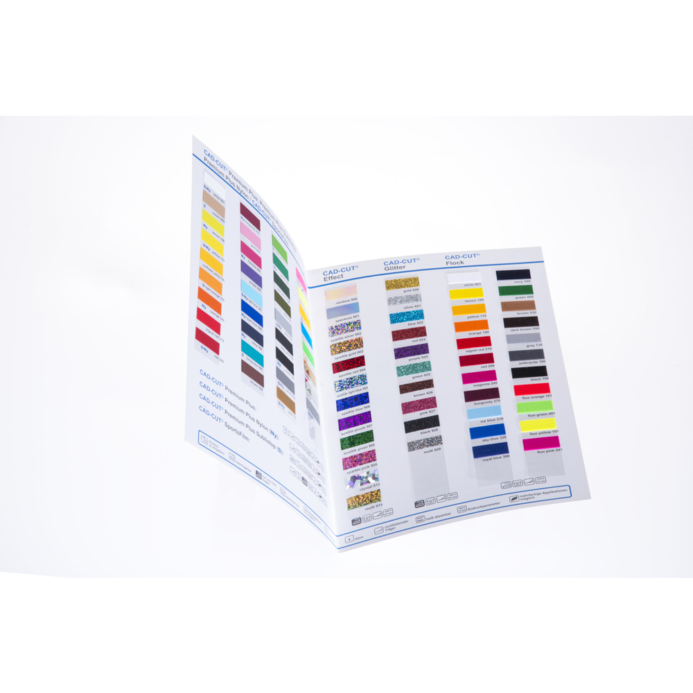 Flexfolien Farbkarte Stahls CAD-CUT PREMIUM PLUS