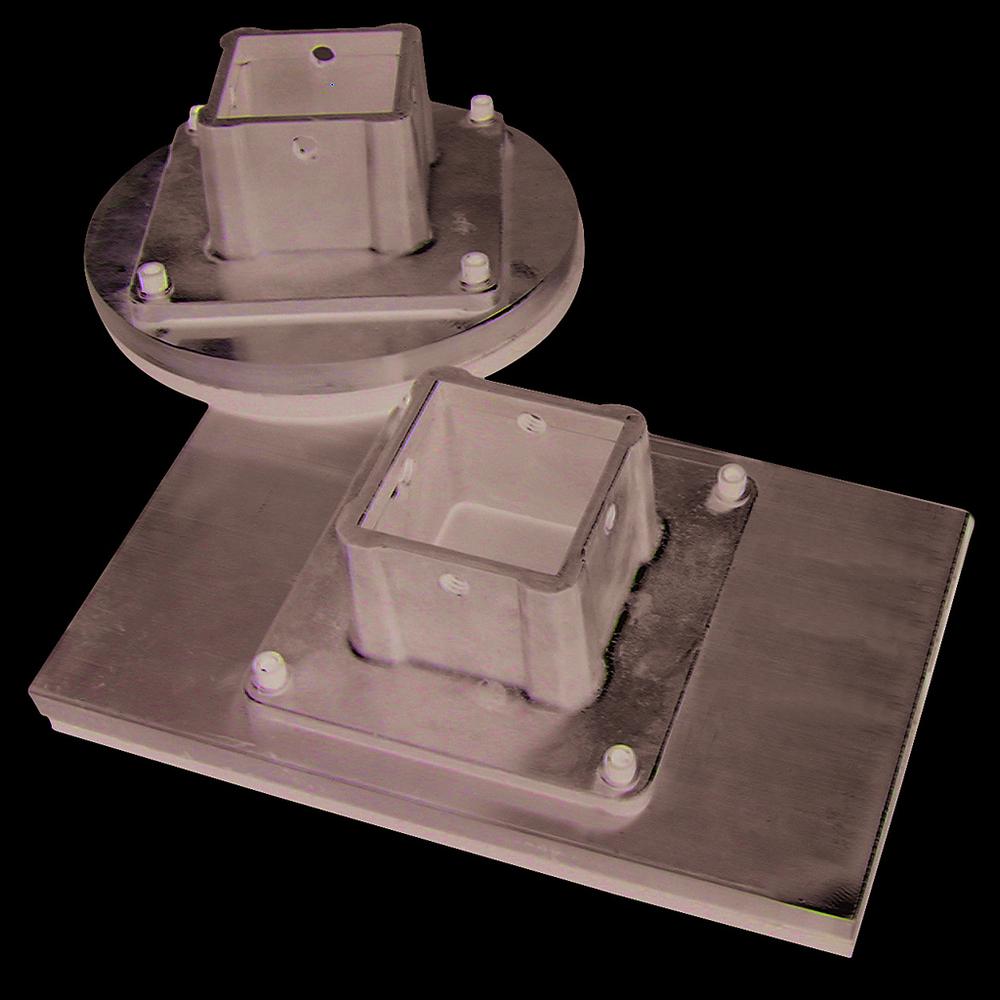 Replacement bottom plate rectangular 40cm x 40cm