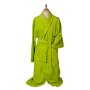 Bathrobe with shawl collar