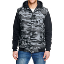 Hooded Fleece Sleeved Puffer Vest