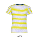 Kids Round Neck Striped T-Shirt Miles