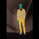 Cardigan en tricot à col V Golden Men