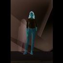 Damen Stretch-3/4-Armbluse Effect
