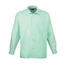 Chemise à manches longues en popeline (chemise homme / manches longues)