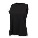 Ladies High Neck Slash Armhole Vest