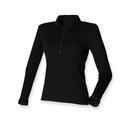Ladies Long Sleeved Stretch Polo