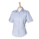 Ladies Short Sleeved Pinpoint Oxford Shirt