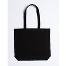 Cotton bag with side gusset long handles