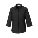 Ladies´ 3/4 Sleeve Polycotton Fitted Poplin Shirt