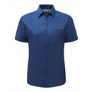 Ladies? short sleeve polycotton poplin shirt