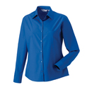 Ladies Long Sleeve Pure Cotton Poplin Blouse