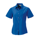 Ladies? short sleeve pure cotton poplin shirt