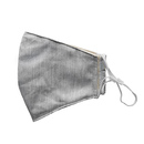 Fabric mask model: Trina incl. 2 easy-change filters, unprinted gray